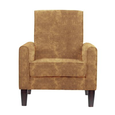 Songy Armchair Upholstery: Brown/Burnt Orange