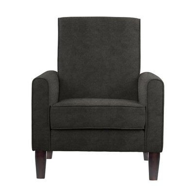 Songy Armchair Upholstery: Black/Gray