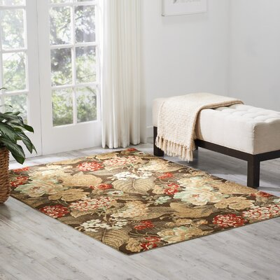 Treasures Clay Area Rug Rug Size: Rectangle 410 x 66