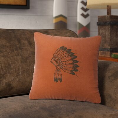 Naccarato Headdress Throw Pillow Color: Paprika