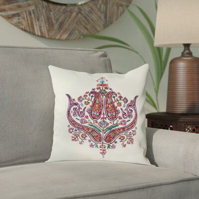 Bourget Paisley Grandeur Wool Pillow Cover Color: Ivory