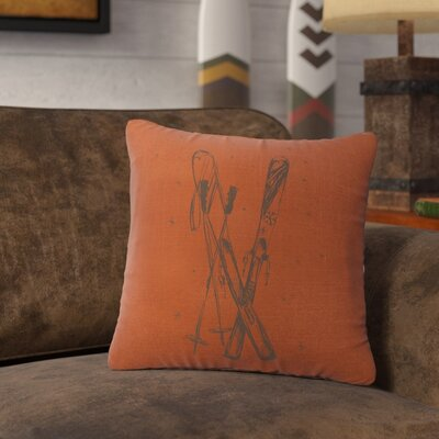 Nakamura Ski Throw Pillow Color: Paprika