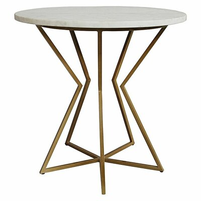 Detroit End Table Table Base Color: Gold