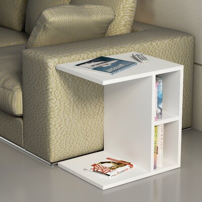 Demelo End Table Color: White