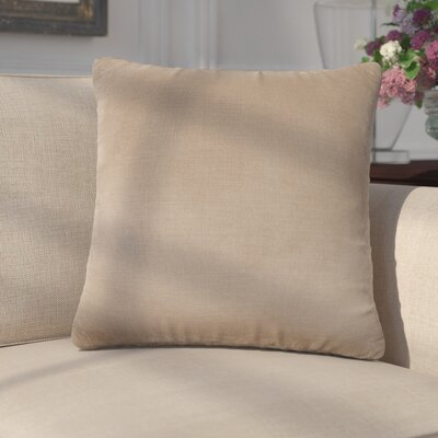 Mckayla Stain Resistant Down Filled Throw Pillow Color: Nickel