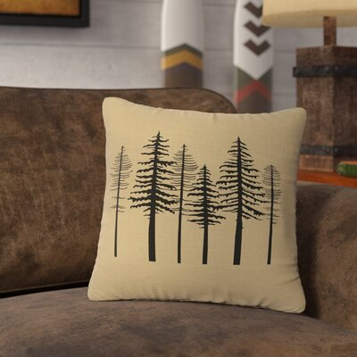 Nakasi Trees Throw Pillow Color: Natural