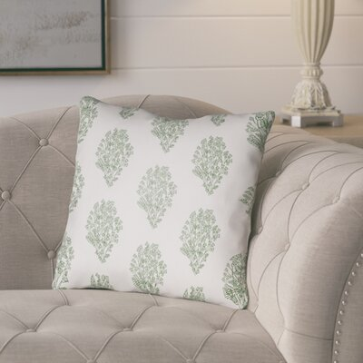 Glengormley Throw Pillow Size: 22 H x 22 W x 5 D, Color: White/Green