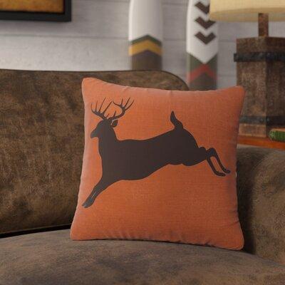 Nakayama Jumping Deer Throw Pillow Color: Paprika