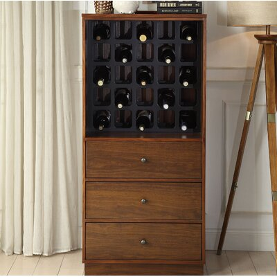 Wangaratta 25 Bottle Floor Wine Rack Color: Walnut