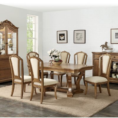 Eastbourne 7 Piece Dining Set Color: Honey