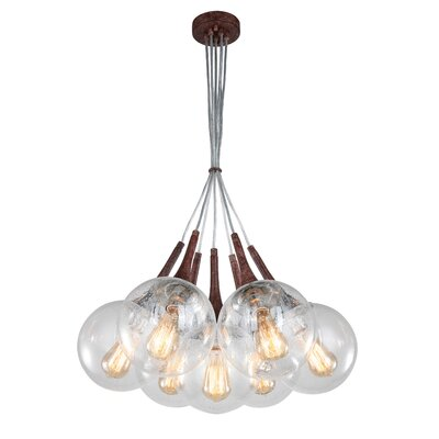 Ovellette Tight 7-Light Cluster Pendant Finish: Walnut
