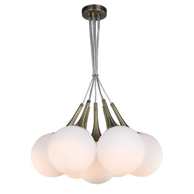 Ovellette Tight 7-Light LED Cluster Pendant Finish: Brushed Brass