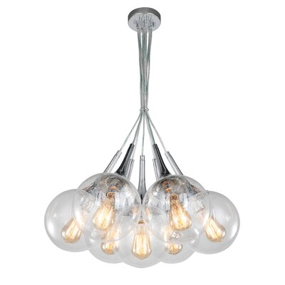 Ovellette Tight 7-Light Cluster Pendant Finish: Chrome