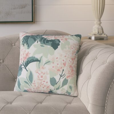 Ramessar Floral Down Filled 100% Cotton Throw Pillow Size: 18 x 18, Color: Oyster