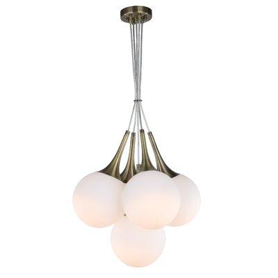 Ovellette Tight 5-Light LED Cluster Pendant Finish: Brushed Brass