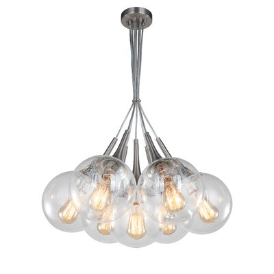 Ovellette Tight 7-Light Cluster Pendant Finish: Satin Nickel