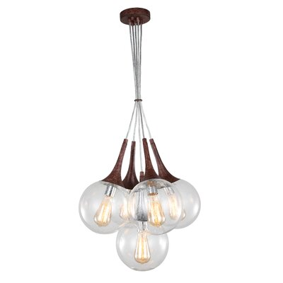 Ovellette Tight 5-Light Cluster Pendant Finish: Walnut