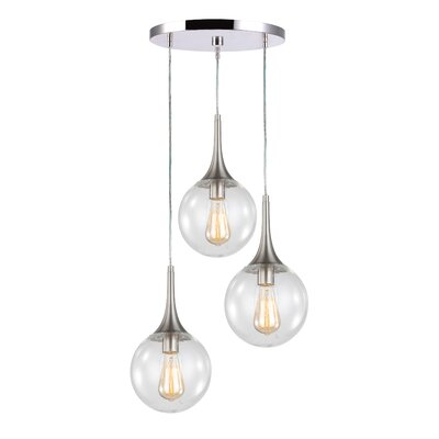Ovellette 3-Light Cluster Pendant Finish: Satin Nickel