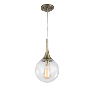 Ovellette 1-Light Mini Pendant Finish: Brushed Brass