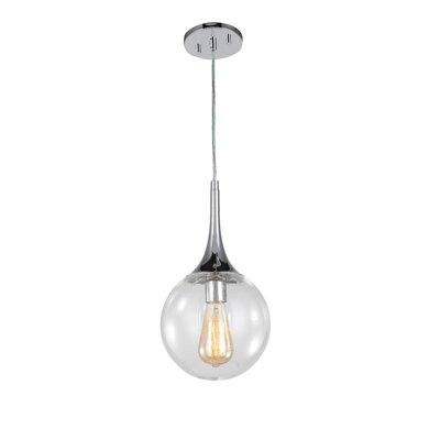 Ovellette 1-Light Mini Pendant Finish: Chrome