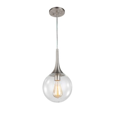 Ovellette 1-Light Mini Pendant Finish: Satin Nickel