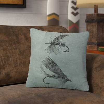 Nagao Flies Throw Pillow Color: Ocean