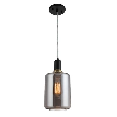 Gurney Slade 1-Light Mini Pendant Shade Color: Smokey, Size: 72 H x 4.38 W x 4.38 D