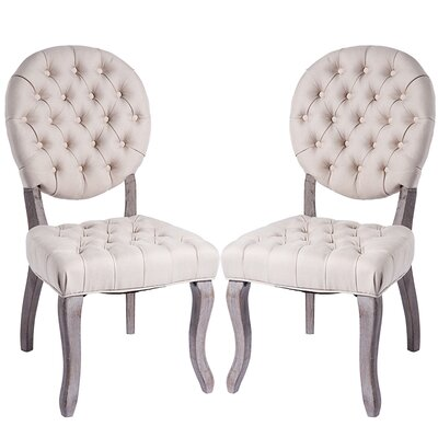 Pythagoras Upholstered Dining Chair Upholstery Color: Beige