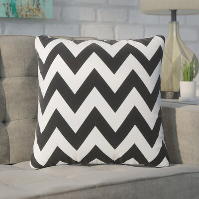 Swigart Square Indoor/Outdoor Throw Pillow Color: Black/White