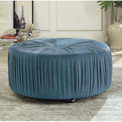 Doster Cocktail Ottoman Upholstery: Blue