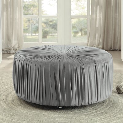 Doster Round Ottoman Upholstery: Gray