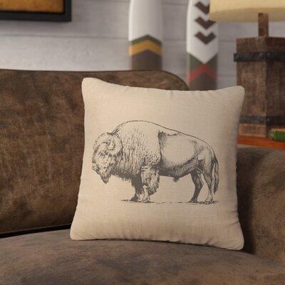 Lanphear Buffalo Throw Pillow Color: Natural