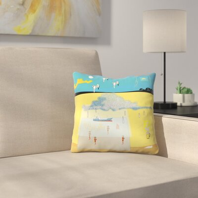 Kasi Minami Life in Low Bit Throw Pillow Size: 16 x 16