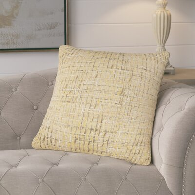 Mancilla Decorative Cotton Throw Pillow Color: Yellow