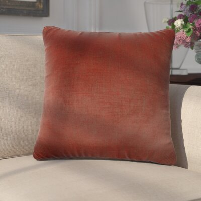Mckayla Stain Resistant Down Filled Throw Pillow Color: Carmine