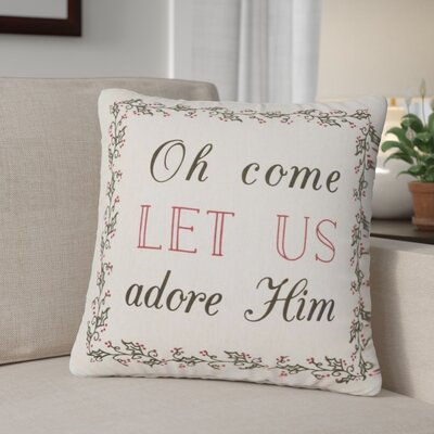 Fosse Oh Come Let Us 100% Cotton Throw Pillow