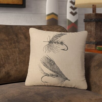Nagao Flies Throw Pillow Color: Natural