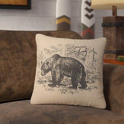 Nailwell Bear Scene Throw Pillow Color: Natural
