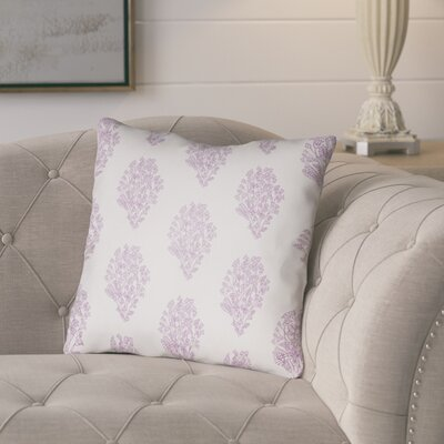 Glengormley Throw Pillow Size: 20 H x 20 W x 4 D, Color: White/Purple
