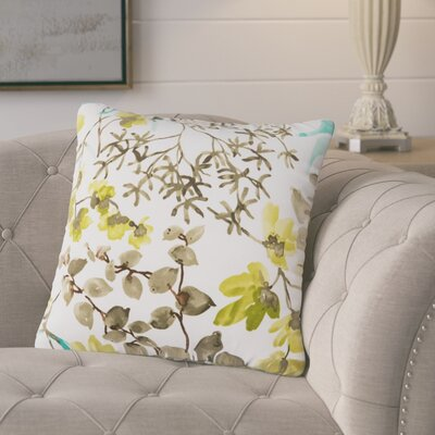 Dransfield Floral Outdoor Throw Pillow