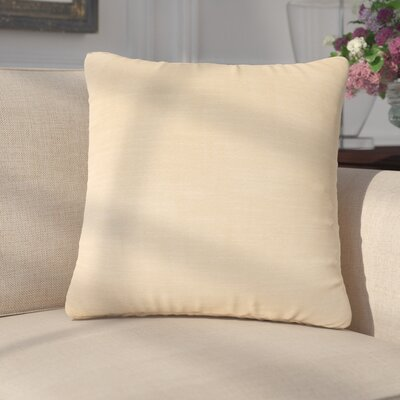 Mckayla Stain Resistant Down Filled Throw Pillow Color: Muslin