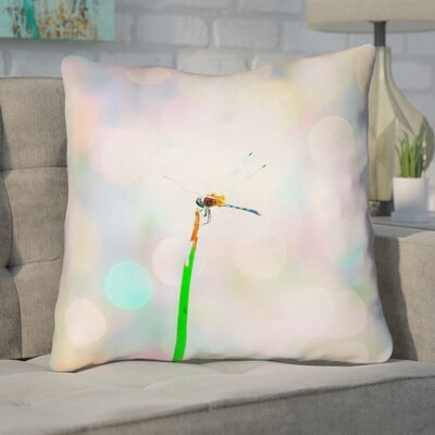 Gemmill Dragonfly and Lights Double Sided Throw Pillow Type: Pillow Cover, Material: Polyester