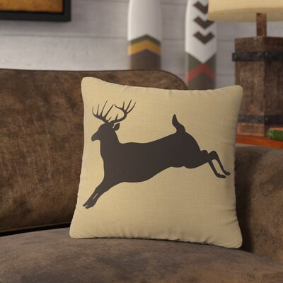 Nakayama Jumping Deer Throw Pillow Color: Natural