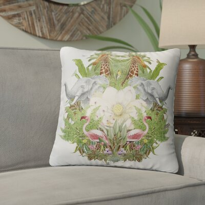 Eaddy Nature Collage Throw Pillow Size: 16 x 16