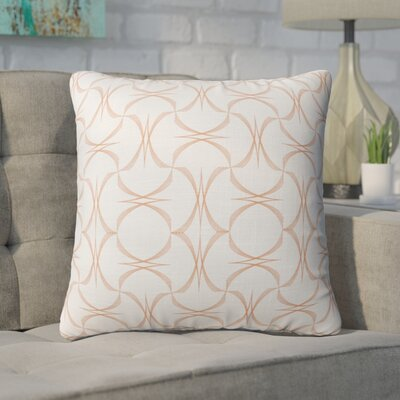 Richelle Tangarine Accent Throw Pillow Size: 24 x 24