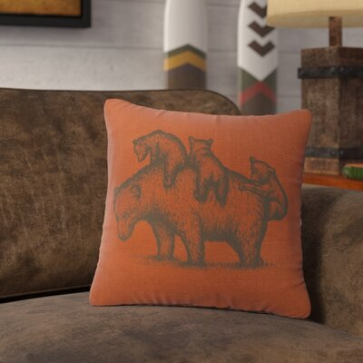 Nakashima Mama Bear Throw Pillow Color: Paprika