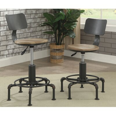 Gowan Industrial Lift Adjustable Height Swivel Bar Stool