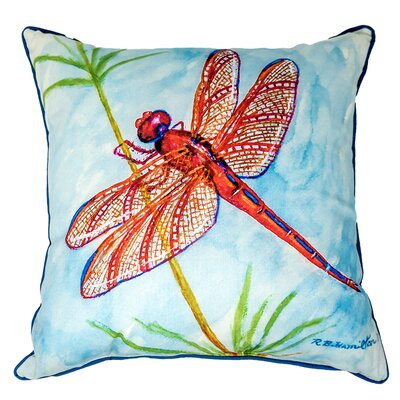 Ferro Red Dragonfly Indoor/Outdoor Throw Pillow Size: Extra Large
