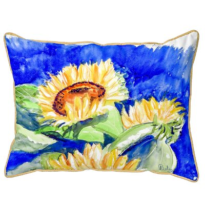 Fessler Gold Rising Sunflower Indoor/Outdoor Lumbar Pillow Size: Small