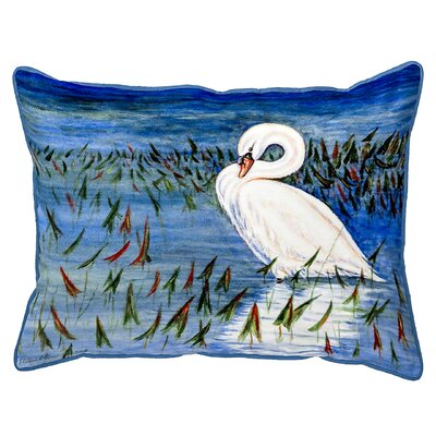 Henegar Mute Swan Indoor/Outdoor Lumbar Pillow Size: Large